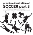 Premium soccer part 3 vector | Price: 1 Credit (USD $1)