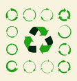 recycle arrows set - ecology icons vector image
