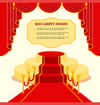 red award carpet vector image vector image