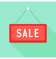 Red Sale Sign over Green vector image