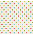 retro seamless pattern with polka dots vector image