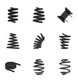 riband icons set simple style vector image
