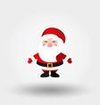 santa claus icon flat vector image vector image