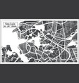 sao luis brazil city map in retro style outline vector image