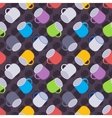 Seamless pattern with the colored coffee mugs vector image vector image