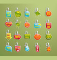 shelf wobbler discount labels set on green vector image vector image
