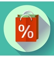 shopping bag Icon Flat design style vector image vector image