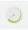 simple green icon - dial symbol vector image