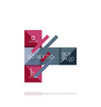 square option infographic banner data and vector image vector image