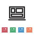 squares icon vector image