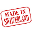 Switzerland - made in red vintage isolated label vector image vector image