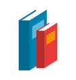 text books isolated icon vector image