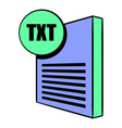 txt file icon cartoon vector image vector image