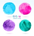 Watercolor colorful banners vector image vector image