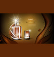 whiskey bottle mock up closed glass alcohol flask vector image vector image