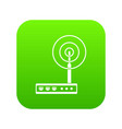 wifi router icon digital green vector image