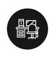 work desk icon vector image vector image