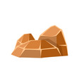 brown mineral stones rocks in natural environment vector image