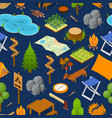 camping element or part set background pattern vector image