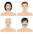 4 men vector image