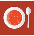 Alphabet soup vector image