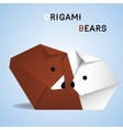 Bears origami vector image