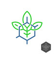 biochemical industry logo plant leaves vector image vector image