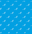 bird magpie pattern seamless blue vector image vector image