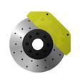 brake disc caliper pad vector image