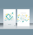 brochure template design with geometric simple vector image vector image