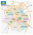 brussels road administrativeand political map vector image vector image