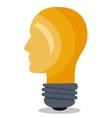 bulb light idea icon vector image