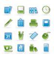 Business and office equipment icons vector | Price: 3 Credits (USD $3)