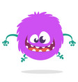 cartoon happy monster vector image vector image
