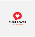 chat lover logo design template isolated vector image