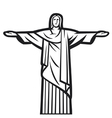 Christ the Redeemer statue vector image