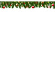 christmas border with holly berry vector image vector image