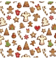christmas gingerbread pattern vector image vector image