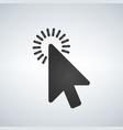 click icon cursor symbol modern simple flat vector image vector image