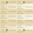 coffee wallpaper white vector image vector image