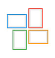 colored photo frames set vector image vector image