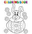 coloring book easter rabbit theme 4 vector image vector image