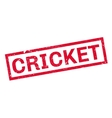 Cricket rubber stamp vector image