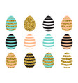 easter eggs set with vector image