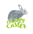 easter rabbit and easter eggs vector image vector image