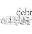 emergency debt relief programs vector image vector image