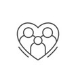 family and love line outline icon vector image vector image
