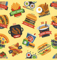 fast food restaurant product seamless pattern vector image vector image