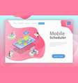 flat isometric landing page template vector image vector image