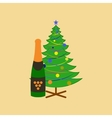 flat on background of Christmas tree vector image vector image